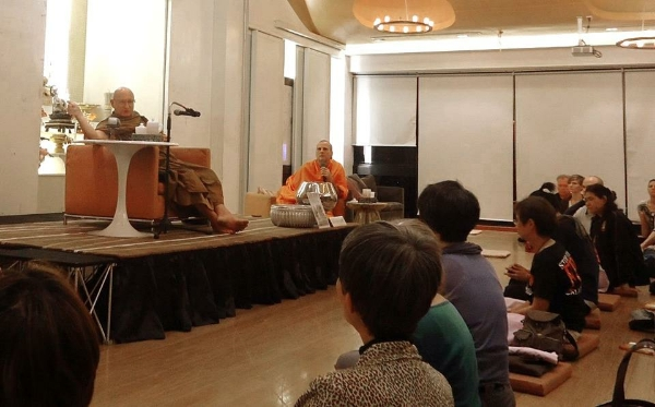 Ajahn T. and Pandit Bhikkhu