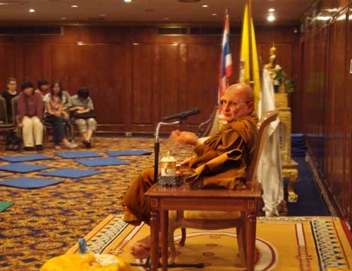 Tawana Hotel event with Ajahn Tiradhammo