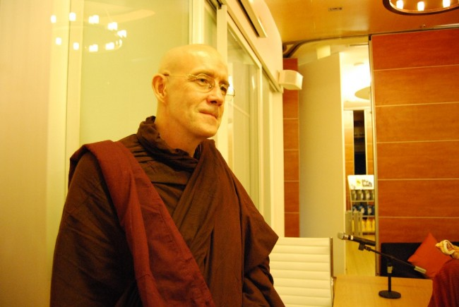 Buddhist monk U Vamsa teaching meditation