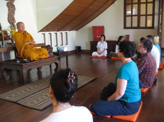 meditation hall in Ariyasom