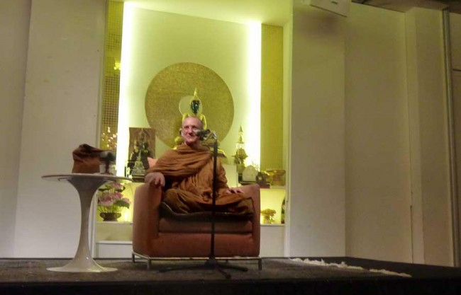 Public dhamma talk by this abbot, in Bangkok