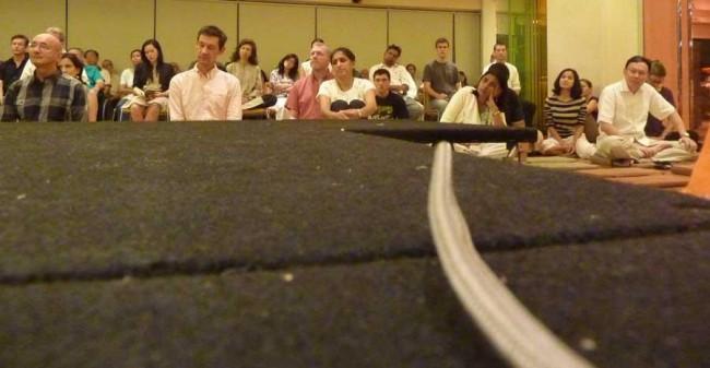 public dharma talk, Bangkok, Thailand