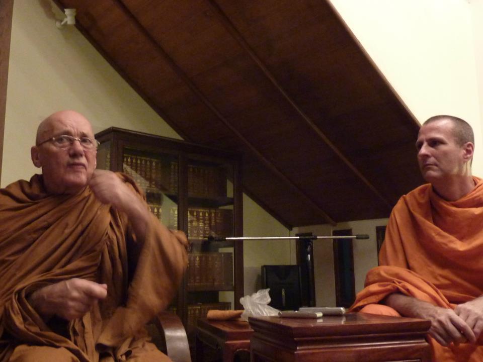 meditation group meets with Ajahn Pannya
