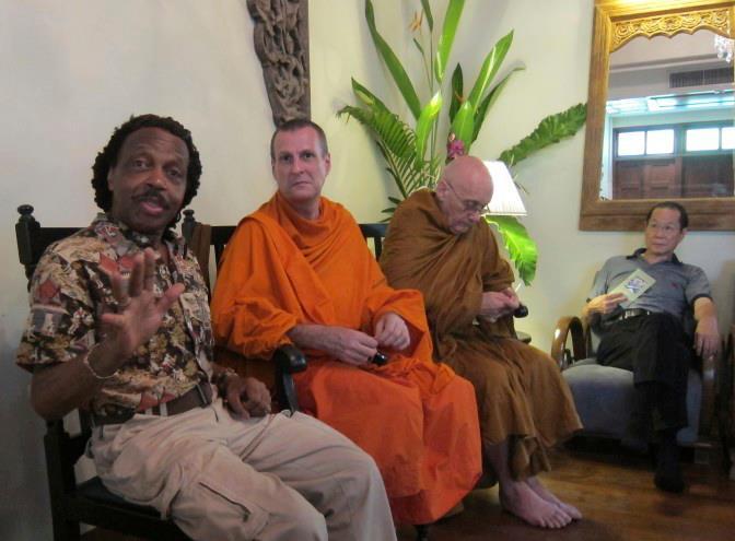 Cappuccino Club in Bangkok with Buddhist monk Pannyavaro Bhikkhu