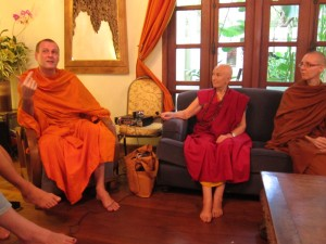 Grilling the Bhikkhunis Ani Choying and Adhimutta