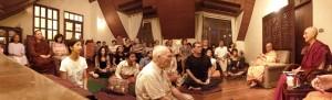 Full house for Bhikkhuni Ani Choying