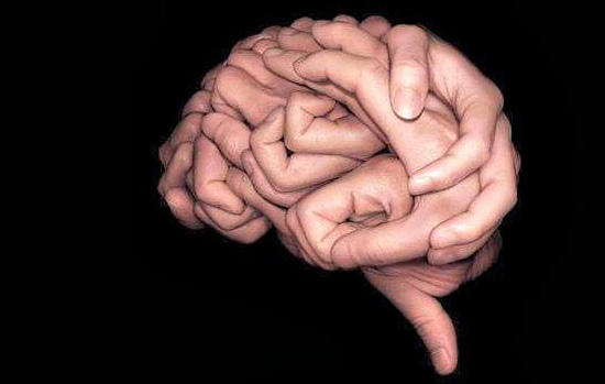 hand in brain