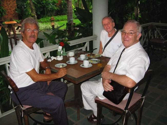 breakfast on our meditation retreat