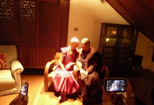 Bhikkhunis from Tibet and Thailand in Bangkok