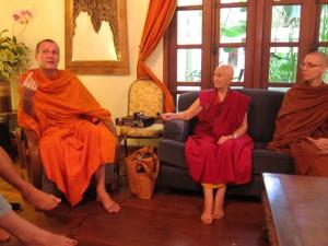 Grilling the Bhikkhunis Ani Choying and Adhimutta